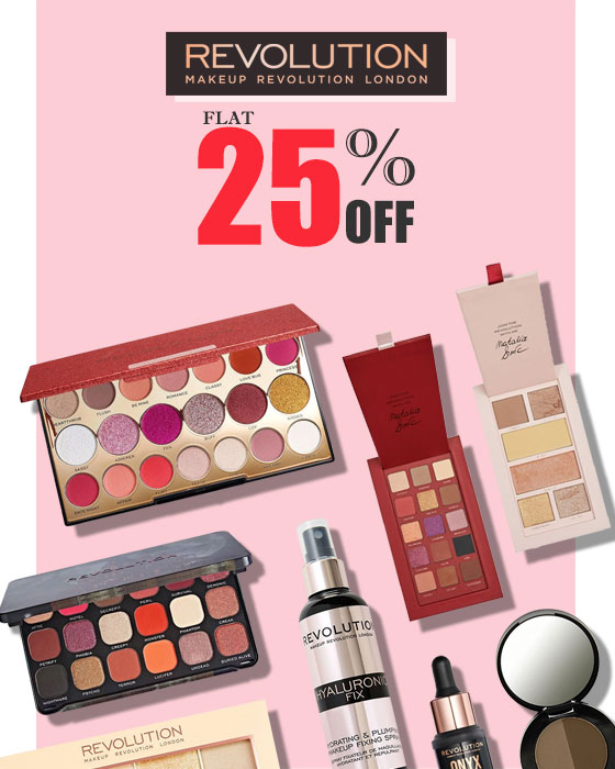 Flat 12% OFF on Makeup Revolution!!