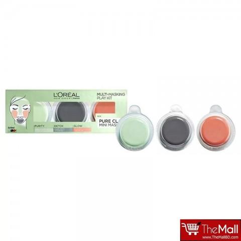 L'Oreal Paris Pure Clay Multi-Masking Face Mask Play Kit 3 x 10ml