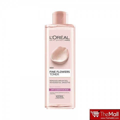 L'Oreal Paris Fine Flowers Toner Dry & Sensitive Skin 400ml
