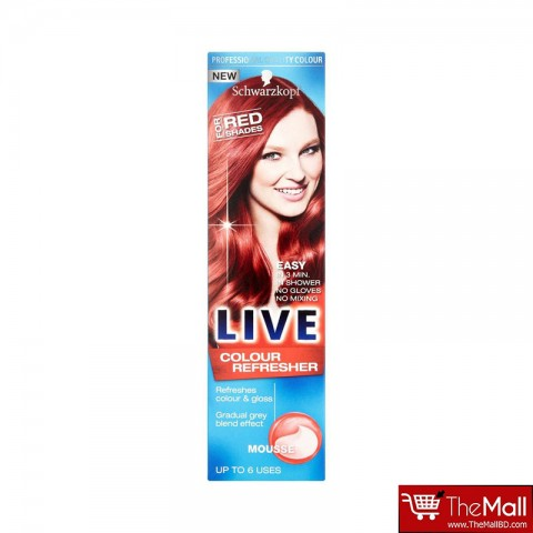 Schwarzkopf Live Colour Refresher Mousse Hair Colour For Red Shades