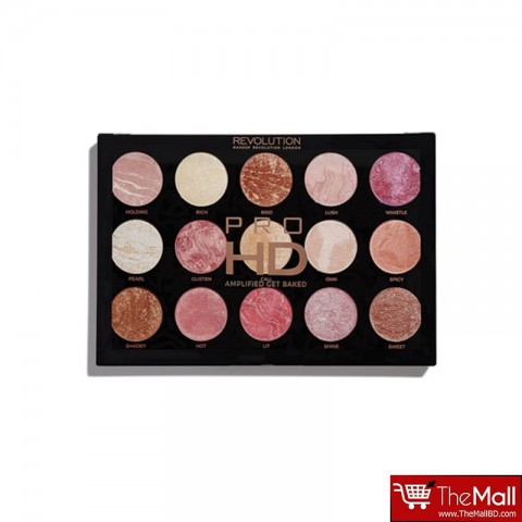 Makeup Revolution HD Pro Amplified Get Baked 15 Highlighters Palette