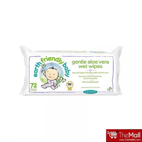 Earth Friendly Baby Gentle Aloe Vera Wet Wipes - 72 Wipes