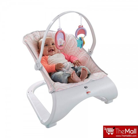 Fisher- Price Pink Saturn Snuggle Comfort Curve Bouncer