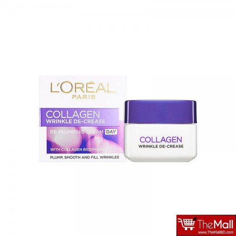 L'oreal Paris Collagen De Crease Re-Plumping Day Cream 50ml