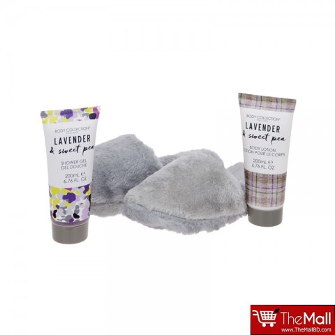 Body Collection Lavender & Sweet Pea Slipper Set