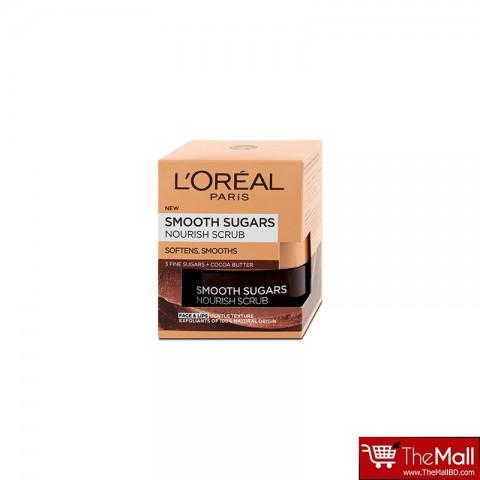 L'Oreal Paris Smooth Sugars Nourish Cocoa Face And Lip Scrub 50ml
