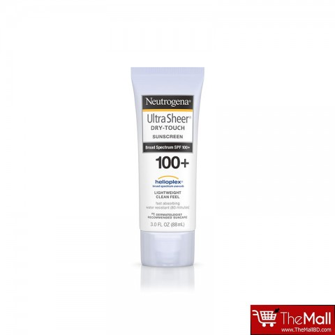 Neutrogena Ultra Sheer Dry Touch Sunscreen Broad Spectrum SPF 100+ 88ml