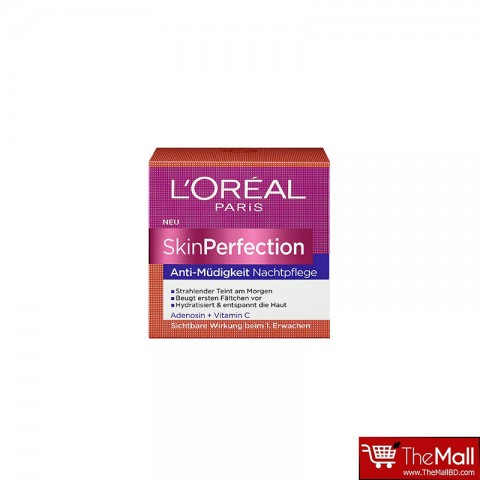 L'oreal Paris Skin Perfection Anti-Mudigkeit Nachtpflege Cream 50ml