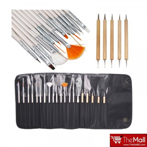 Laroc 20 Piece Nail Art Brush Set