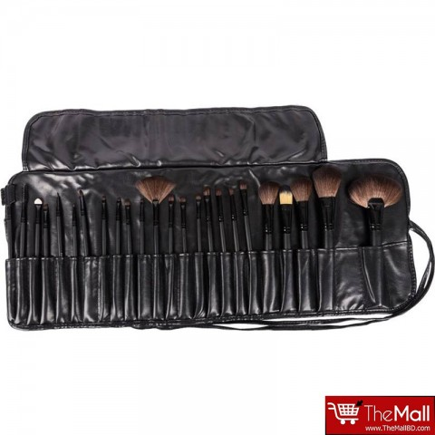 Lilyz Makeup Brush Set 24 Pcs - Black (3046)