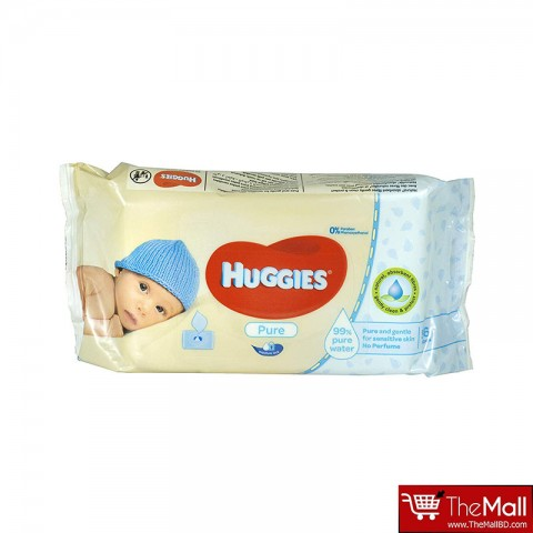 Huggies Pure Baby Wipes 56's