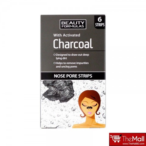 Beauty Formulas Activated Charcoal Nose Pore Strips 6 Strips