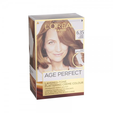 L'oreal Paris Age Perfect By Excellence Layered Tone Flattering Creme Hair Colour - 6.35 Light Warm Auburn