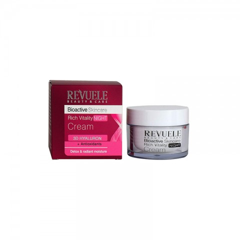 Revuele Beauty & Care Bioactive Skincare Rich Vitality Night Cream 3D Hyaluron 50ml