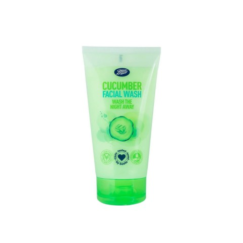 Boots Cucumber Facial Wash - Wash The Night Away 150ml