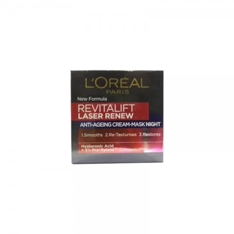 L'oreal Revitalift Laser Renew Anti Ageing Night Mask Cream 50ml - Age 40+
