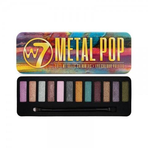 W7 Metal Pop Soft Metallic Shimmers Eye Colour Palette