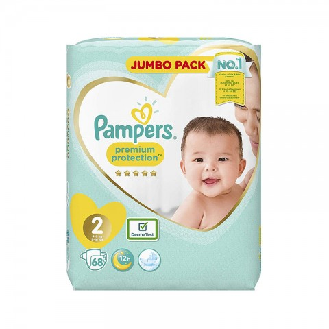 Pampers Premium Protection 12h Nappy Size 2 (4-8 kg) - 68 Nappies