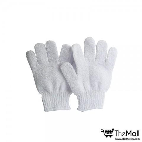 Athena Bath And Shower Exfoliating Gloves 2pc - White