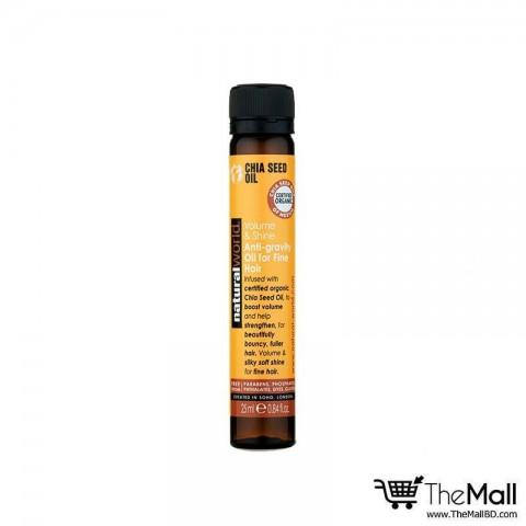 Natural World Chia Seed Volume & Shine Anti-gravity Oil For Fine Hair 25ml
