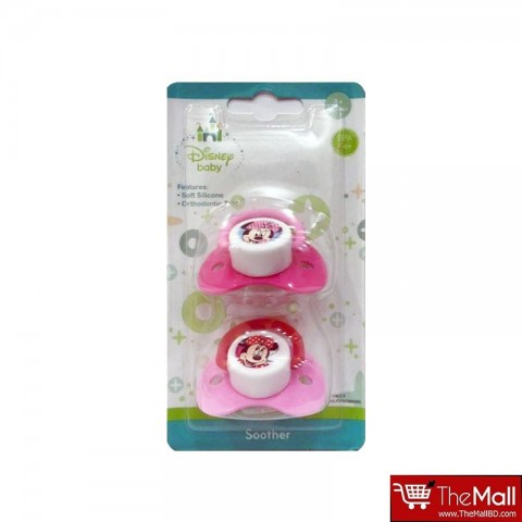Disney Minnie Mickey Mouse Soother Pacifier 2 PK