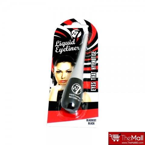 W7 Liquid Eyeliner 8ml - Blackest Black