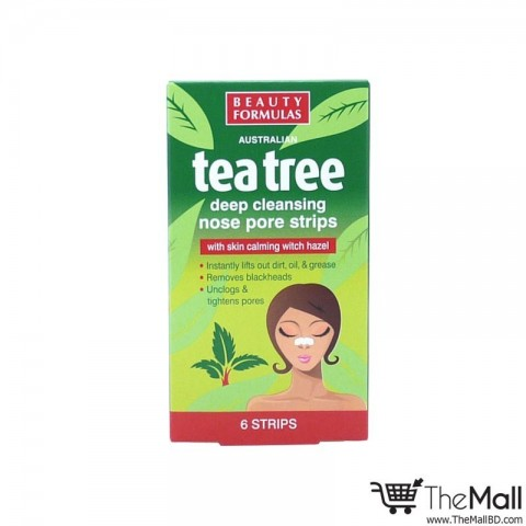 Beauty Formulas Tea Tree Nose Pore Strips 6 strips