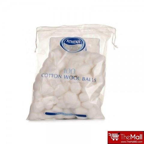 Athena Cotton Wool Balls White 100 Pack