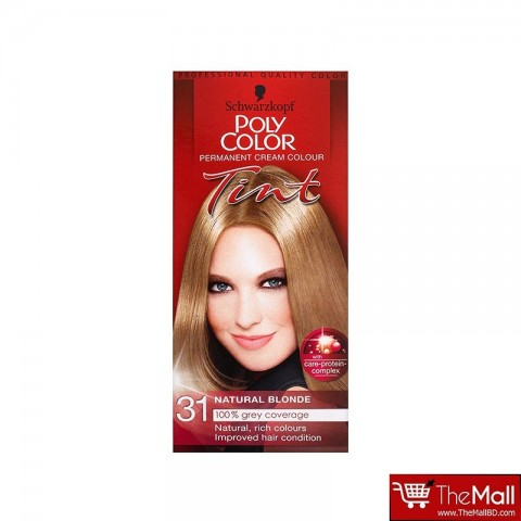 Schwarzkopf Poly Color Permanent Cream Colour Tint - 31 Natural Blonde