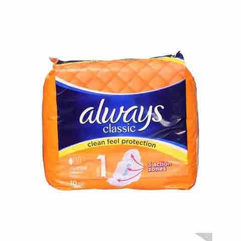 Always Classic Clean Feel Protection Normal Pads - Size 1