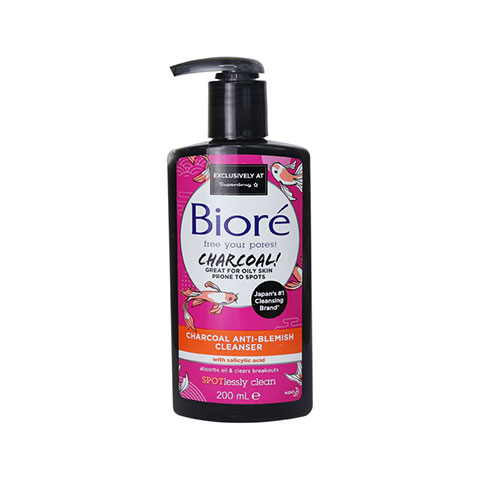 Biore Charcoal Anti-Blemish Cleanser 200ml