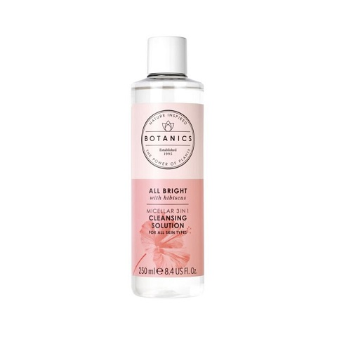 Boots Botanics All Bright Micellar 3 In 1 Cleansing Solution For All Skin Types 250ml