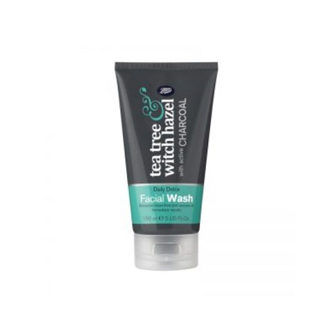 Boots Tea Tree and Witch Hazel Daily Detox Facial Wash With Active Charcoal 150ml