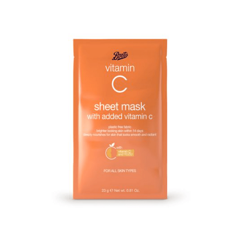 Boots Vitamin C Sheet Mask With Added Vitamin C 23g