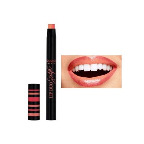 Bourjois Paris Lip Duo Sculpt Lipstick - 02 Peach Shake
