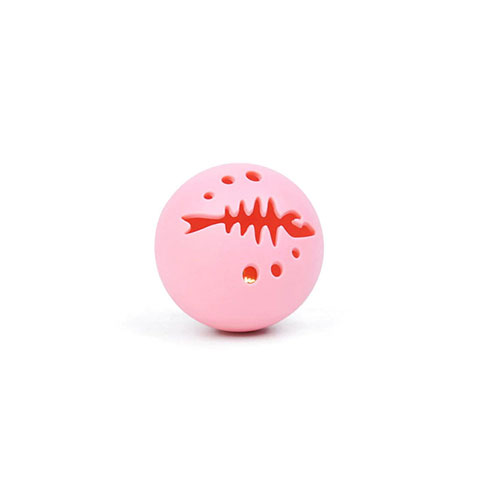 Catnip Toys Cats Bell Ring Ball - Pink