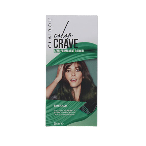 Clairol Color Crave Semi Permanent Hair Colour 60ml - Emerald