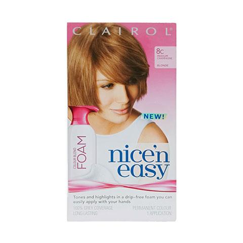 Clairol Nice'n Easy Hair Color Blend Foam - 8C Medium Champagne Blonde