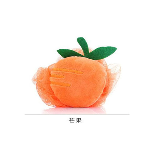 Colorful Fruit Shaped Flower Bath Wipe - Orange