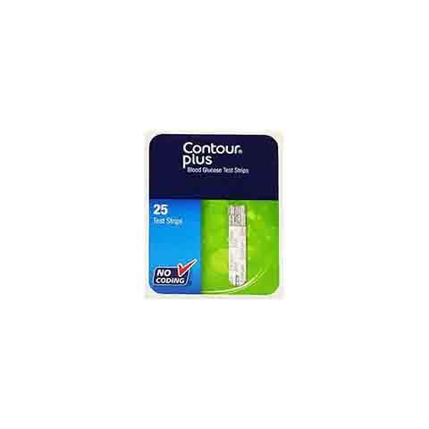 Contour Plus Blood Glucose Test Strip 25's