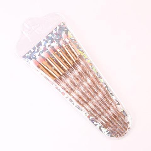 Crystal Diamond Rod Eye Makeup Brushes Set - 7Pcs (20110)