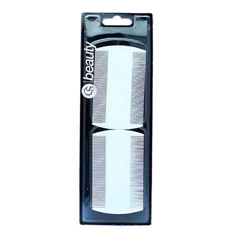 Cs Beauty Nit Comb Twin Pack- S2109 White