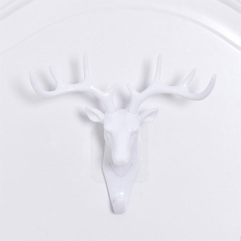 Deer Head Wall Hooks - Off White
