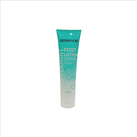 Derma V10 Peppermint & Tea Tree Foot Lotion 100ml
