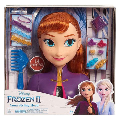 Disney Frozen II Anna Styling Head - 14 Pieces