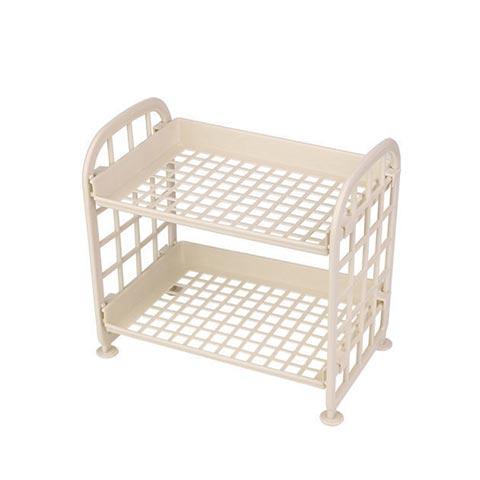Double Layer Storage Folding Rack - Beige (20187)