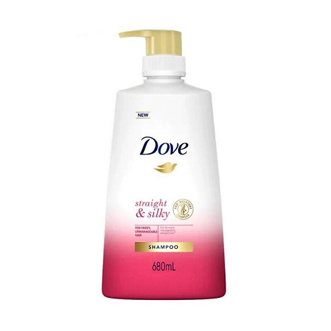 Dove Straight & Silky Shampoo For Frizzy, Unmanageable Hair 680ml