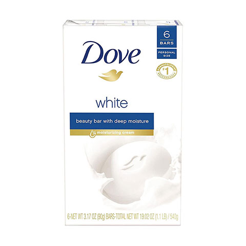 Dove White Beauty Bar With Deep Moisture - 6 Bath Bar