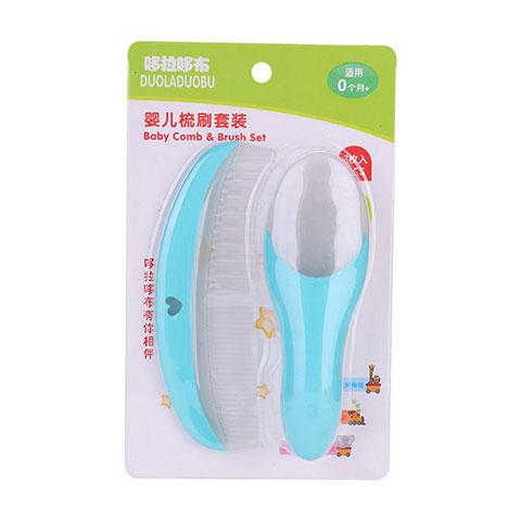 Duoladuobu Baby Comb & Brush Set - Blue