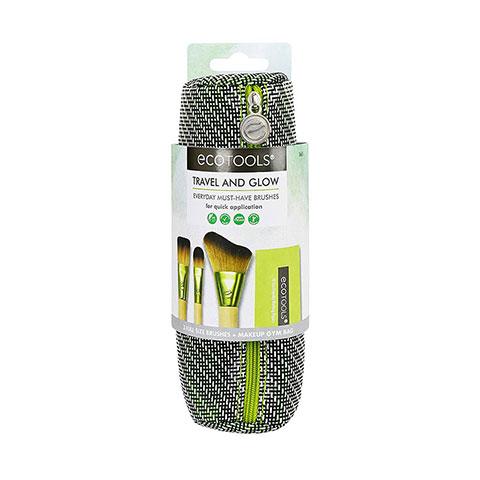 Ecotools Travel & Glow 3 Full Size Brushes + Makeup Gym Bag - 1665